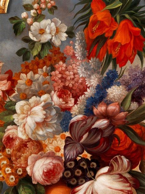 Pair of floral still life antique oil paintings | Mayfair