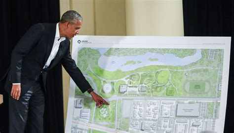 Obama unveils design of his future library and