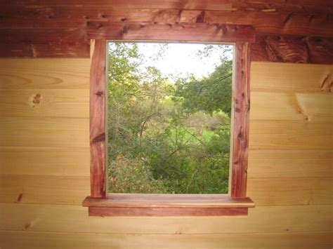 Cedar Window Trim   was shooter view of the swamp before