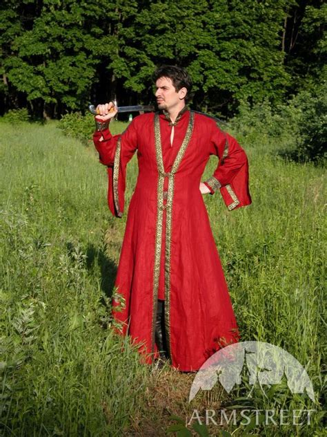 Medieval Noble Flax Tunic and Overcoat Garb Coat Costume