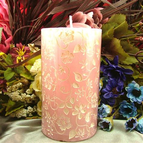 Silicone Candle Mold 3D Round Cylinder with Classical