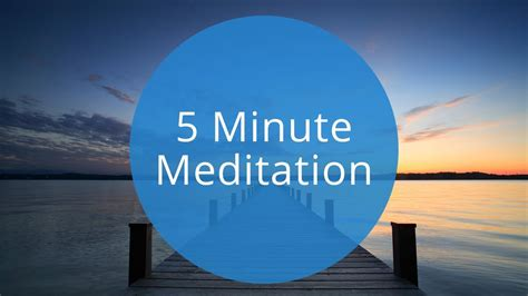 5 Minute Guided Meditation | Quick 5 Minute Meditation to
