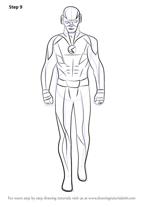 Learn How to Draw Reverse Flash (DC Comics) Step by Step