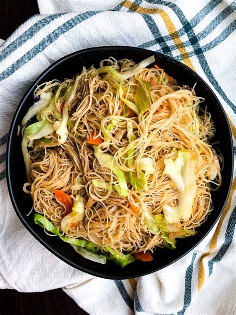 Authentic Pancit Recipe - Filipino Noodles with Chicken