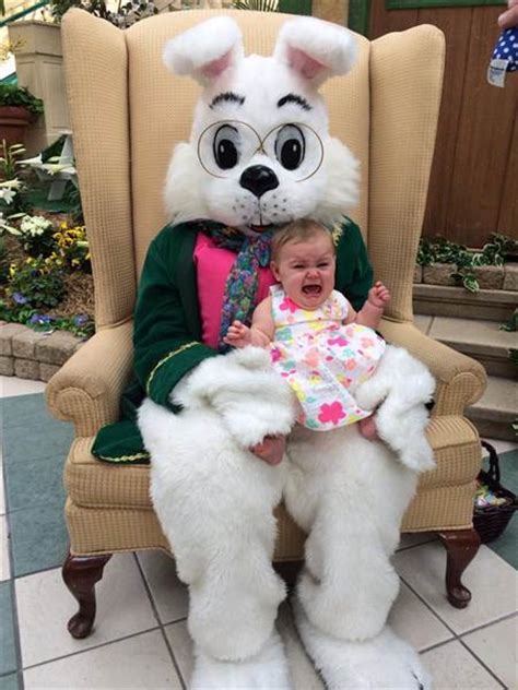 Kids scared of the Easter Bunny? Well, look at him