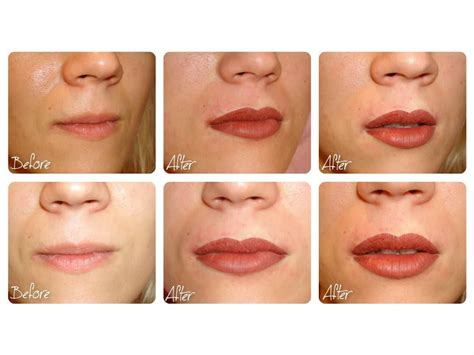 BEFORE & AFTER - SEMI PERMANENT MAKE UP LIPS   Permanent