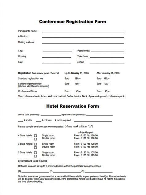 FREE 22+ Hotel Registration Forms in PDF | Ms Word