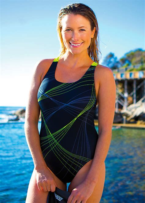 Zoggs Active Sport Sydney Flyback Swimsuit Has Free