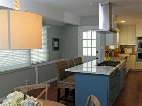 Blue Kitchen Island With Gas Cooktop   HGTV