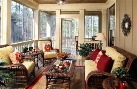 Fine Looking Screened Porch Furniture   Lake house
