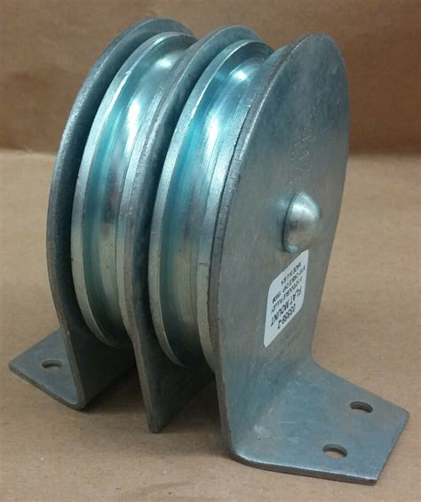 """Sheave Pulley 3-1/2"""" Double Flat Mount Block-MAX 5/16"""