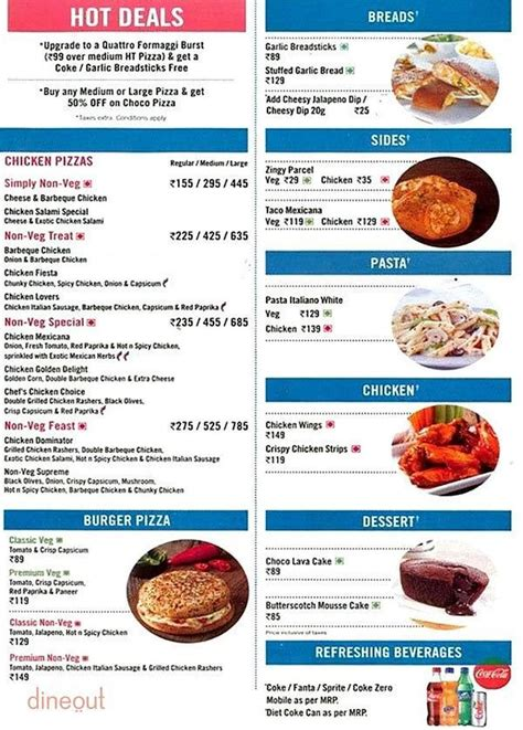 Menu of Domino's Pizza, Adyar, Chennai   Dineout discovery