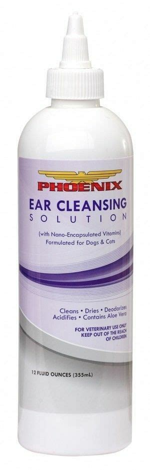 Ear Cleansing Solution for Dogs & Cats 12oz Removes Wax