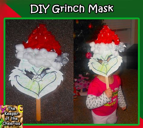 DIY Kids Grinch Mask - The Keeper of the Cheerios