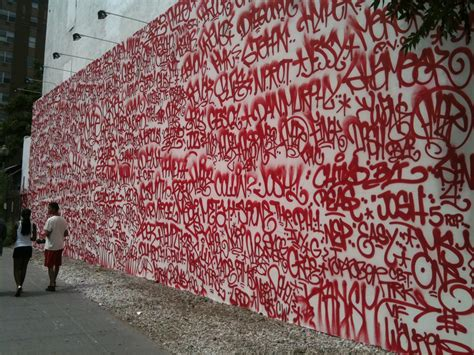 If you haven't seen the new graffiti/tag mural on Bowery