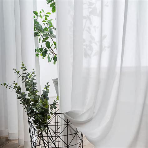 Sheer Curtain Coconut Soft White Voile Sheer Curtain The