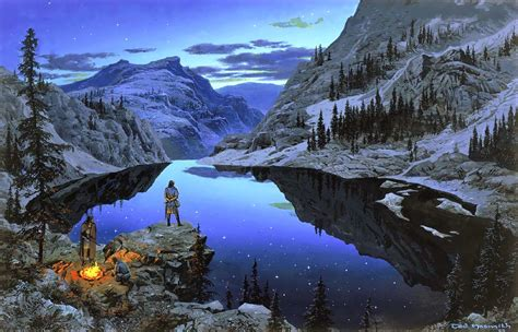 Tarn Aeluin, was a clear blue mountain lake in the