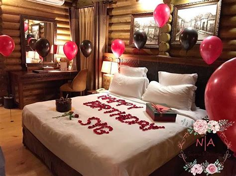 Room decoration for birthday surprise ️ #