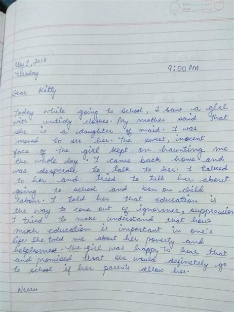 How to write diary entry