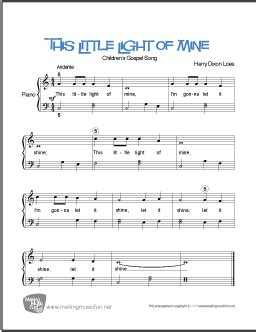 This Little Light of Mine | Free Easy Piano Sheet Music
