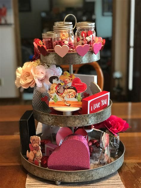 Valentines Day Tiered Tray Decor That Anyone Can Do
