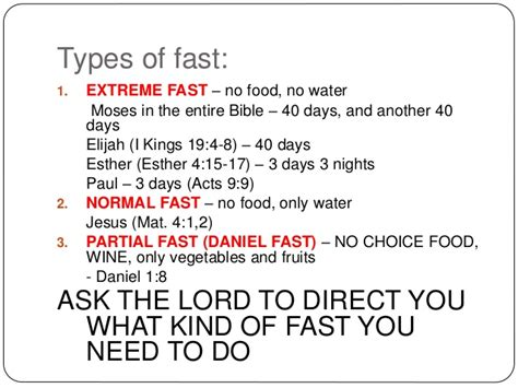Prayer with Fasting, The Fasted Lifestyle