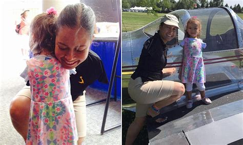 Touching moment armless three-year-old girl meets and hugs