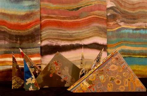 Colorful Cross-Sections of Rock Formations Made Into