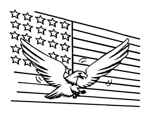 American Flag Coloring Pages - Best Coloring Pages For Kids