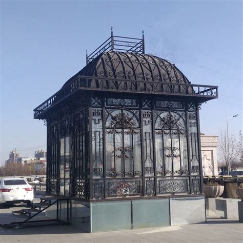 French Style Steel Pipe Greenhouse Victorian Iron Gazebo
