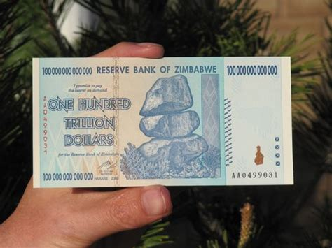 Zimbabwe's currency crisis and the 100 trillion dollar