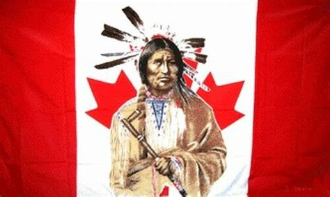 Indian Brave Canadian Flag 3x5 ft Canada Native American