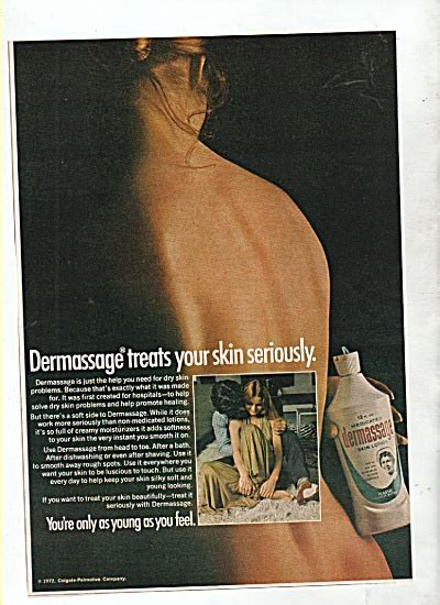 Dermassage skin lotion ad 1972 (NEWLY LISTED NOT IN