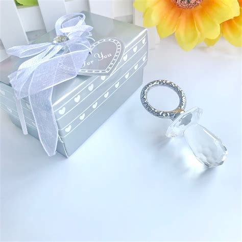 FREE SHIPPING 5pcs/lot Crystal Baby Shower Favors Crystal